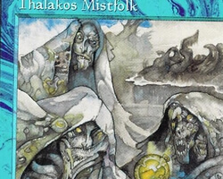Magic the Gathering Tempest Card: Thalakos Mistfolk