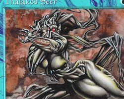 Magic the Gathering Tempest Card: Thalakos Seer