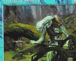 Magic the Gathering Tempest Card: Thalakos Sentry