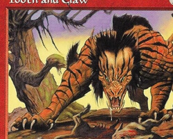 Magic the Gathering Tempest Card: Tooth and Claw