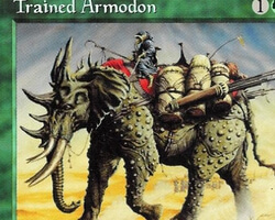 Magic the Gathering Tempest Card: Trained Armodon