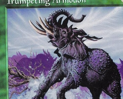 Magic the Gathering Tempest Card: Trumpeting Armodon