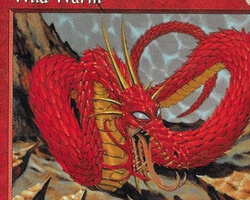 Magic the Gathering Tempest Card: Wild Wurm