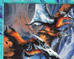 Magic the Gathering Tempest Card: Winged Sliver