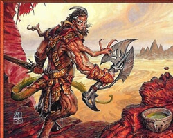 Magic the Gathering Torment Card: Barbarian Outcast