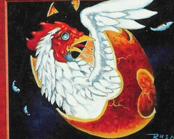 Magic the Gathering Unglued Card: Chicken Egg