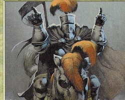 Magic the Gathering Unglued Card: Knight of the Hokey Pokey