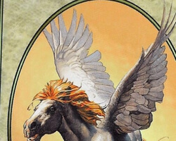 Magic the Gathering Unglued Card: Pegasus (Token)