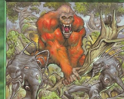 Magic the Gathering Urza's Destiny Card: Ancient Silverback