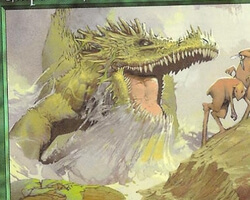 Magic the Gathering Urza's Destiny Card: Emperor Crocodile