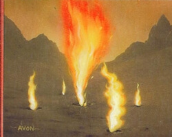 Magic the Gathering Urza's Destiny Card: Flame Jet