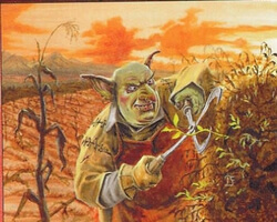 Magic the Gathering Urza's Destiny Card: Goblin Gardener