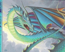 Magic the Gathering Urza's Destiny Card: Iridescent Drake