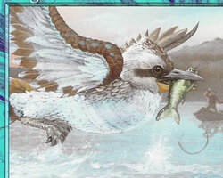 Magic the Gathering Urza's Destiny Card: Kingfisher