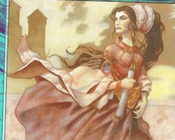 Magic the Gathering Urza's Destiny Card: Rayne, Academy Chancellor