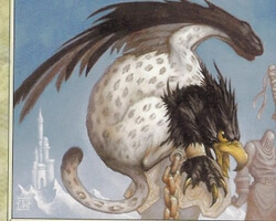 Magic the Gathering Urza's Destiny Card: Tethered Griffin