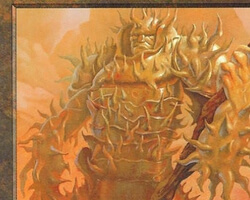 Magic the Gathering Urza's Destiny Card: Thran Golem