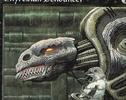Magic the Gathering Urza's Legacy Card: Phyrexian Denouncer
