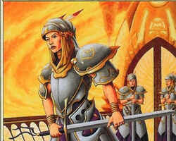 Magic the Gathering Urza's Legacy Card: Radiant's Dragoons