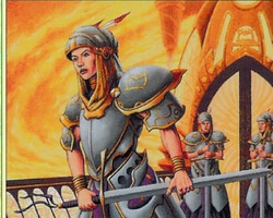 Magic the Gathering Urza's Legacy Card: Radiant's Dragoons (Foil)