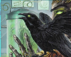 Magic the Gathering Urza's Legacy Card: Raven Familiar