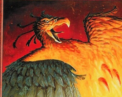 Magic the Gathering Urza's Legacy Card: Shivan Phoenix