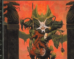 Magic the Gathering Urza's Saga Card: Abyssal Horror
