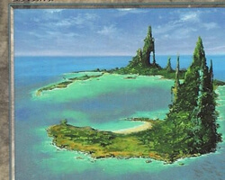 Magic the Gathering Urza's Saga Card: Island (b)