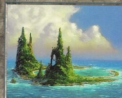 Magic the Gathering Urza's Saga Card: Island (d)