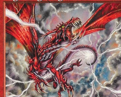 Magic the Gathering Urza's Saga Card: Lightning Dragon