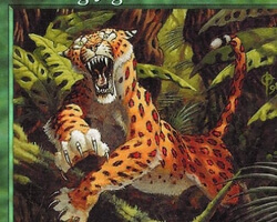 Magic the Gathering Urza's Saga Card: Pouncing Jaguar