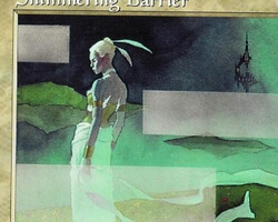 Magic the Gathering Urza's Saga Card: Shimmering Barrier