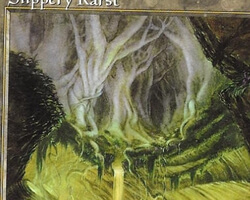 Magic the Gathering Urza's Saga Card: Slippery Karst