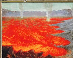 Magic the Gathering Urza's Saga Card: Smoldering Crater