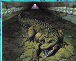 Magic the Gathering Urza's Saga Card: Veiled Crocodile
