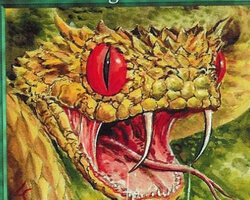 Magic the Gathering Urza's Saga Card: Venomous Fangs