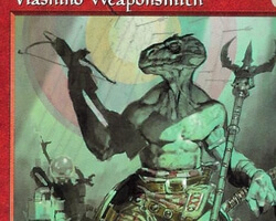 Magic the Gathering Urza's Saga Card: Viashino Weaponsmith