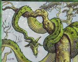Magic the Gathering Urza's Saga Card: Winding Wurm