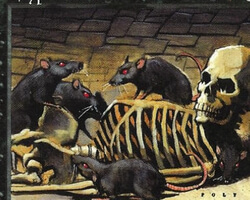 Magic the Gathering Visions Card: Crypt Rats