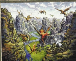 Magic the Gathering Visions Card: Griffin Canyon