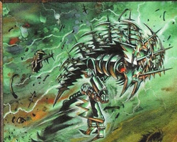 Magic the Gathering Weatherlight Card: Serrated Biskelion