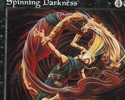 Magic the Gathering Weatherlight Card: Spinning Darkness
