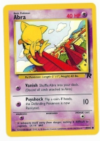 Pokemon TCG Card: Abra from Team Rocket