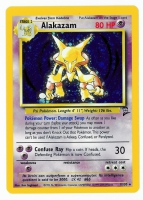 Pokemon TCG Card: Abra Stage 2: Alakazam from Base 2 (Damaged Foil)