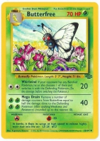 Pokemon TCG Card: Caterpie Stage 2: Butterfree from Jungle