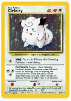 Pokemon TCG Card: Clefairy from Base (Foil)