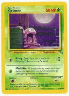 Pokemon TCG Card: Grimer from Fossil