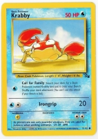Pokemon TCG Card: Krabby from Fossil