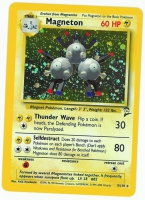 Pokemon TCG Card: Magnemite Stage 1: Magneton from Base 2 (Foil)