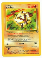 Pokemon TCG Card: Mankey from Jungle